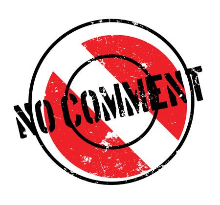 No Comment rubber stamp Illustration
