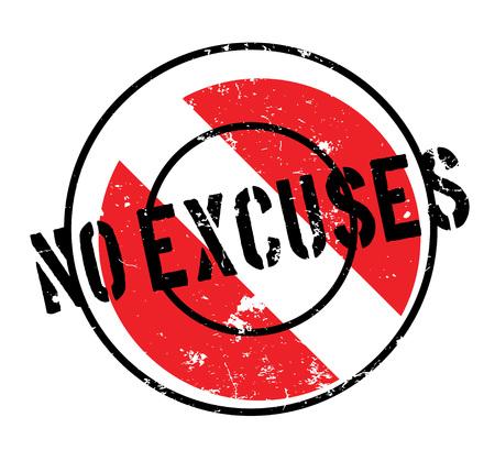 No Excuses rubber stamp Ilustração