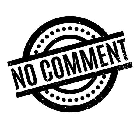 No Comment rubber stamp Ilustração