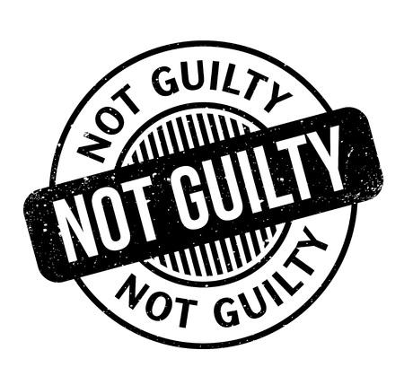 No Guilty rubber stamp Ilustración de vector