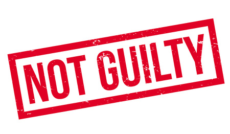 No Guilty rubber stamp