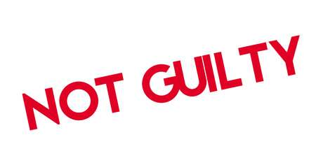 Not Guilty rubber stamp