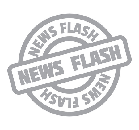 News Flash rubber stamp Stock Vector - 83138204