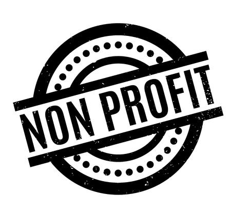 Non Profit rubber stamp Vector Illustration