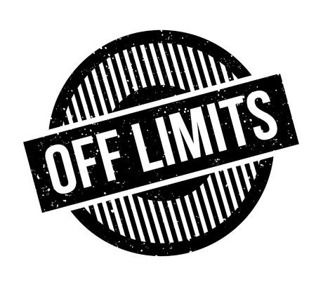 Off Limits rubber stamp Illustration