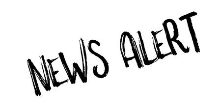 Sello de alerta de noticias Ilustración de vector