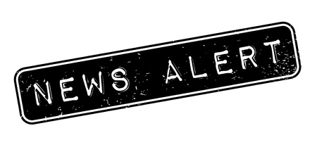 newsroom: News Alert rubber stamp. Grunge design with dust scratches. Effects can be easily removed for a clean, crisp look. Color is easily changed.