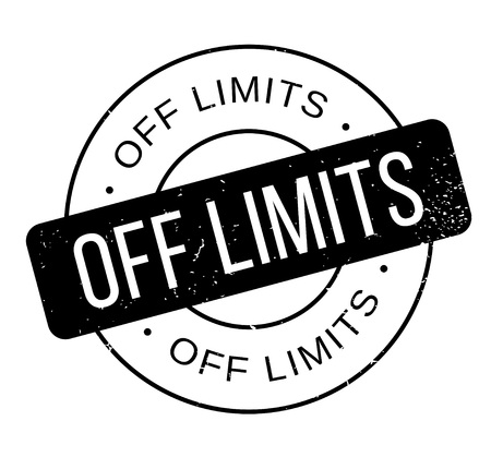 farther: Off Limits rubber stamp Illustration