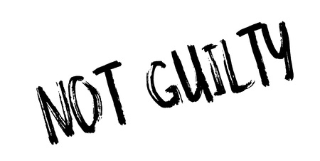 worn out: Not Guilty rubber stamp