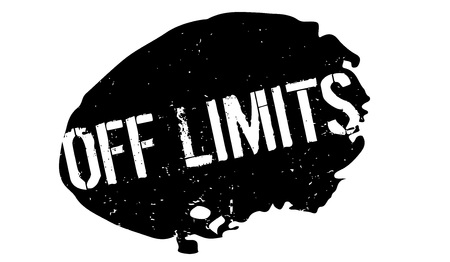 Off Limits rubber stamp Illustration
