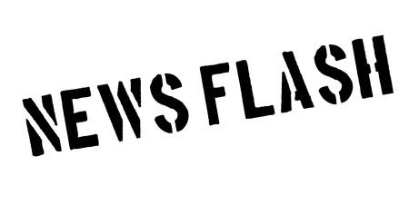 News Flash rubber stamp Illustration