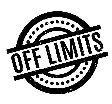 Off Limits rubber stamp Çizim