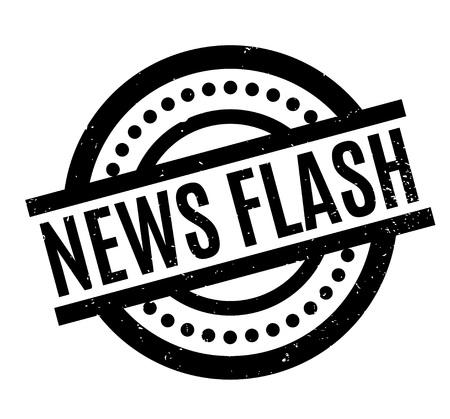 News Flash rubber stamp Ilustração