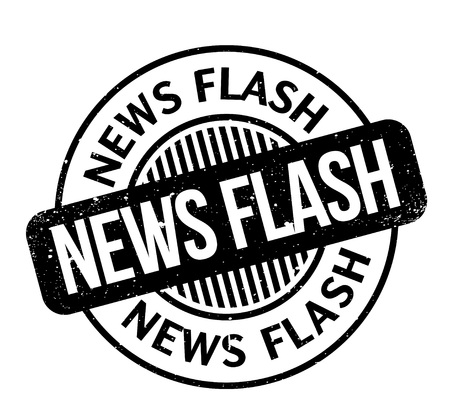 News Flash rubber stamp Stock Vector - 83140332