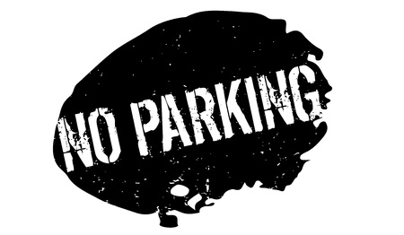 admittance: No Parking rubber stamp