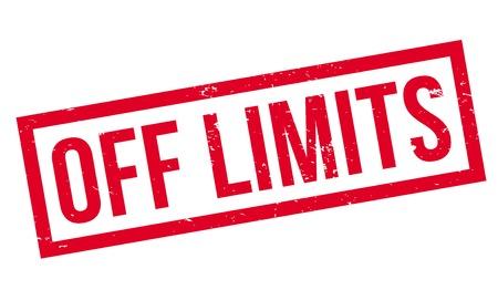 confine: Off Limits rubber stamp Illustration