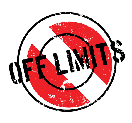 Off Limits rubber stamp Stock Illustratie