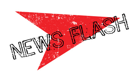 News Flash rubber stamp Illustration