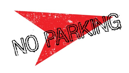 restricted area sign: No Parking rubber stamp