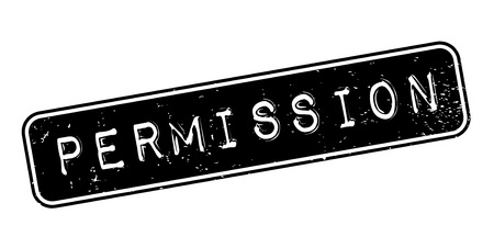 Permission rubber stamp Illustration