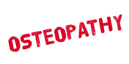 Osteopathie rubberstempel Stock Illustratie