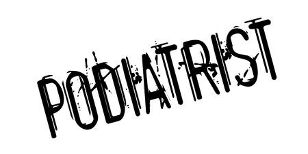 Podiatrist rubber stamp Illustration