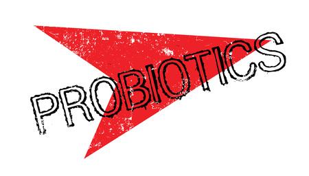 Probiotics rubber stamp Illustration