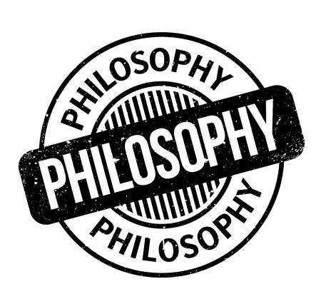 Philosophy rubber stamp Stock Vector - 83256005