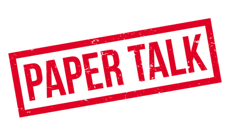 Paper Talk rubber stamp