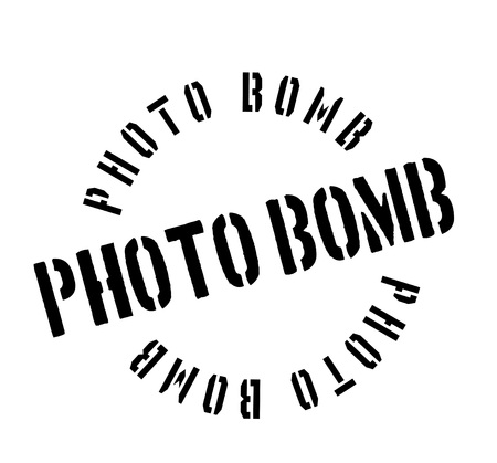 spoil: Photo Bomb rubber stamp Illustration