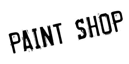 Paint Shop rubber stamp Illustration