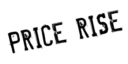 Price Rise rubber stamp