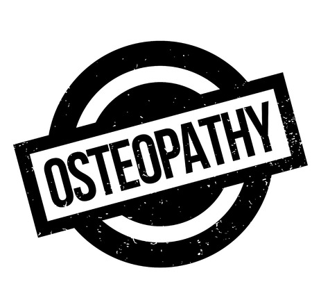 back ache: Osteopathy rubber stamp