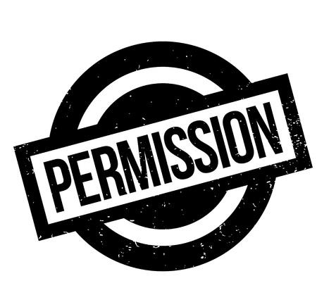 Permission rubber stamp Ilustração