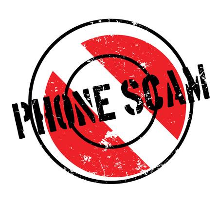 電話詐欺のゴム印