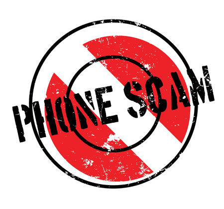 hoax: Phone Scam rubber stamp