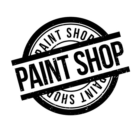 Paint Shop rubberen stempel Stock Illustratie