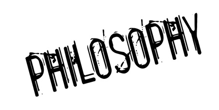 theoretical: Philosophy rubber stamp Illustration