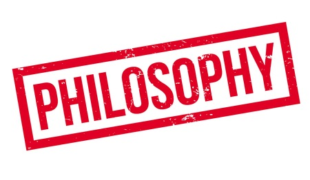Philosophy rubber stamp Illustration
