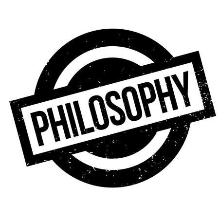 Philosophy rubber stamp Stock Vector - 83257061