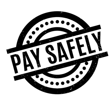 Pay Safely rubber stamp