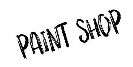 Paint Shop rubber stamp Illusztráció