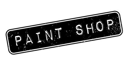 Paint Shop rubber stamp Stock fotó - 83257548