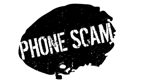 Phone Scam rubber stamp