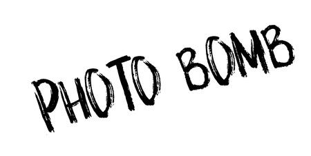 Photo Bomb rubber stamp Illustration