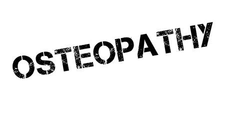Osteopathie rubberen stempel Stock Illustratie