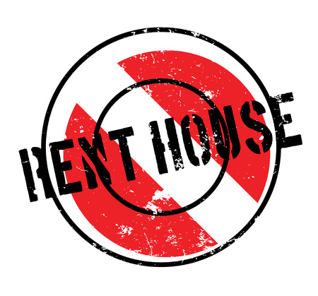 lease: Rent House rubber stamp Illustration
