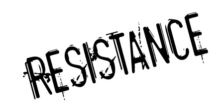 counteract: Resistance rubber stamp. Grunge design with dust scratches. Effects can be easily removed for a clean, crisp look. Color is easily changed.
