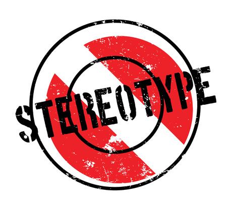 ステレオタイプのゴム印