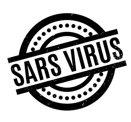 Sars Virus rubber stamp Illustration